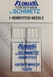 Floriani Chrome Hemstitch Needles 120/19