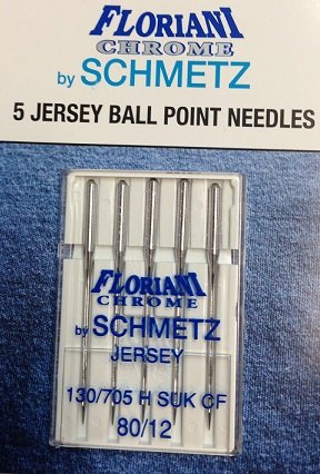 Floriani Chrome Jersey Ball Point Needles 90/14