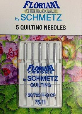 Floriani Chrome Quilting Needles 75/11