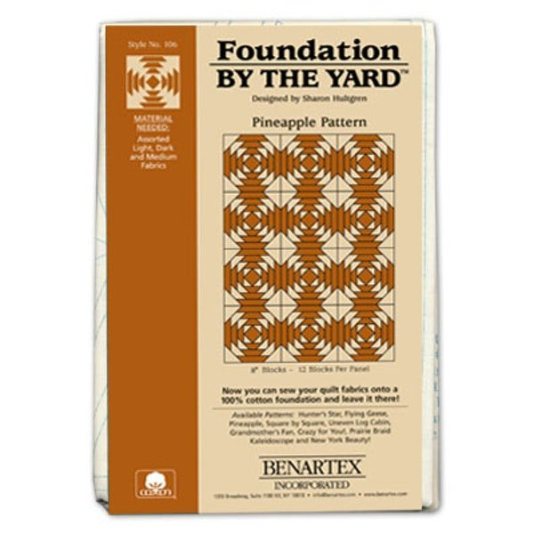 Foundation by the Yard Pineapple Pattern