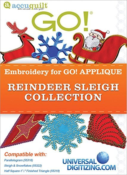 Accquilt GO!  Reindeer Sleigh Embroidery Collection