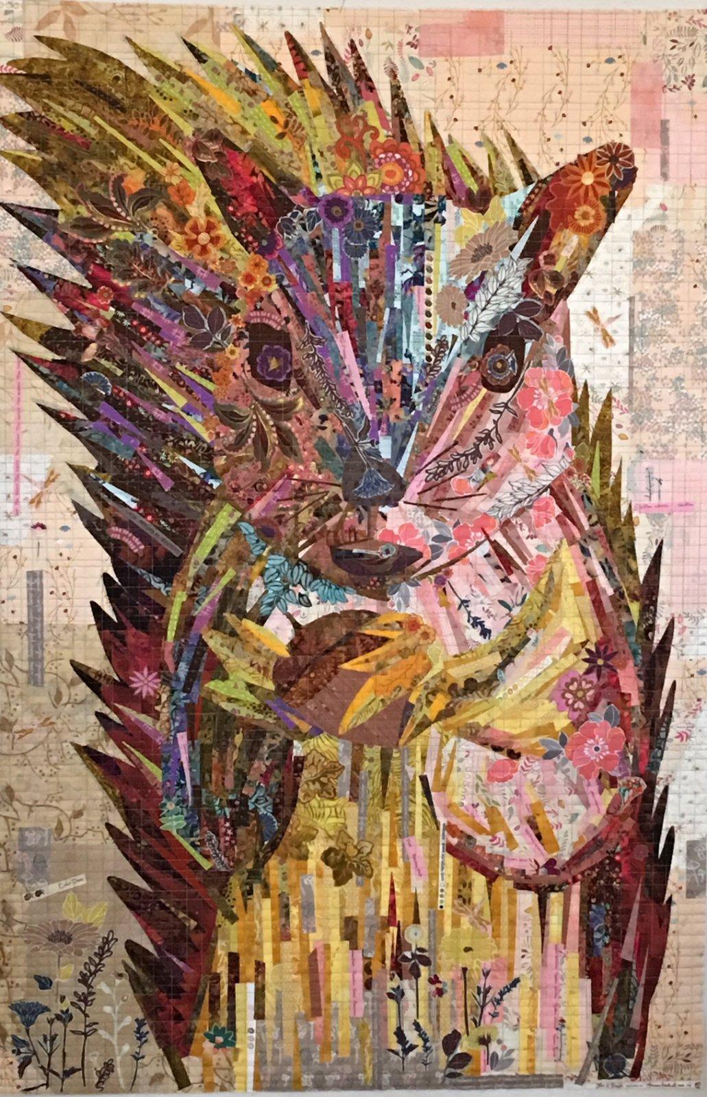 Hazel Nutt Squirrel Collage by Laura Heine