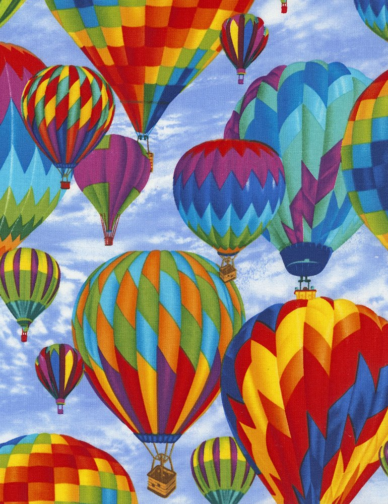 Hot Air Balloons In Blue