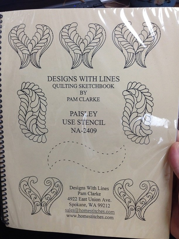 Designs with Lines Paisley Quilting Sketchbook