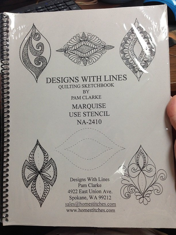 Designs with Lines Marquise Quilting Sketchbook