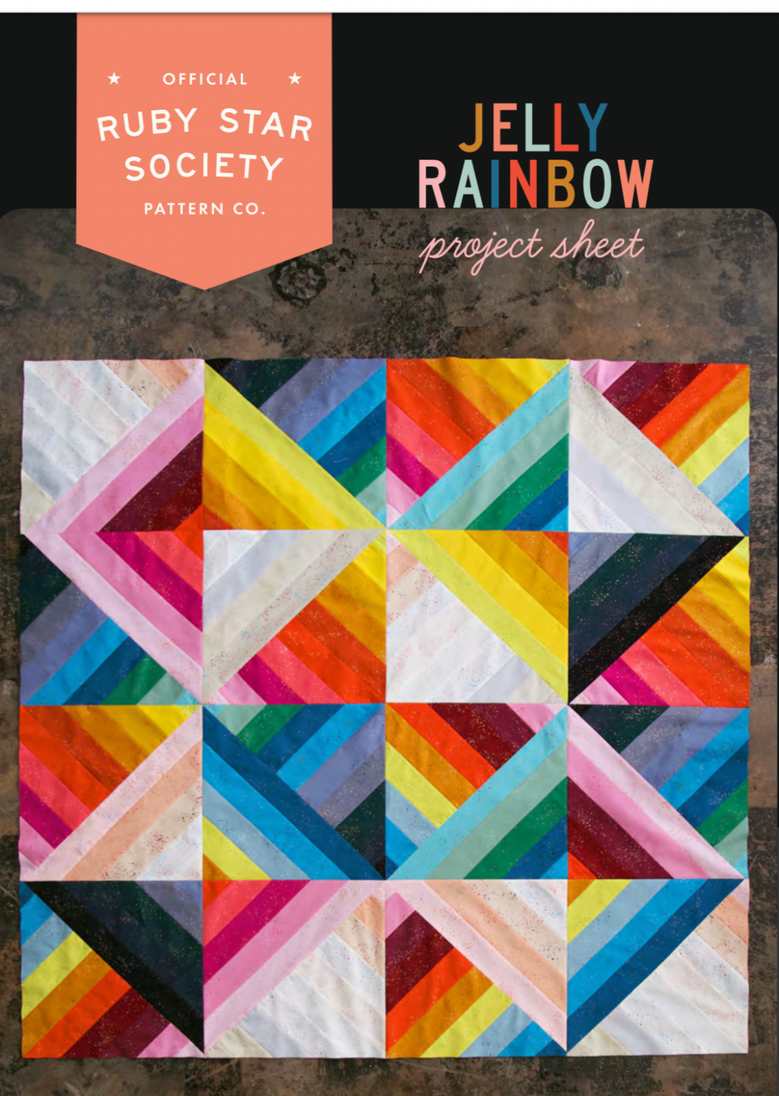 FREE Pattern -Jelly Rainbow ..Ruby Star Society Pattern