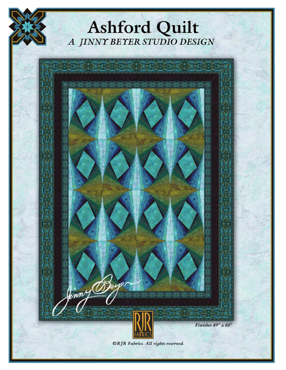 FREE pattern - Jinny Beyer Log Cabin Ashford