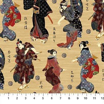 Kabuki Characters Black
