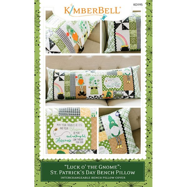 KD195 Luck O' The Gnome: St. Patrick's Day Bench Pillow Sewing