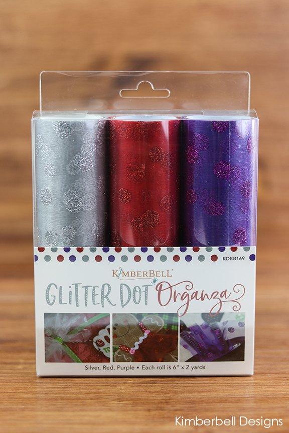 KDKB169 Kimberbell Glitter Dot Organza