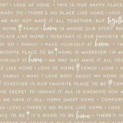 Kimberbell Make Yourself at Home Home Phrases Gray