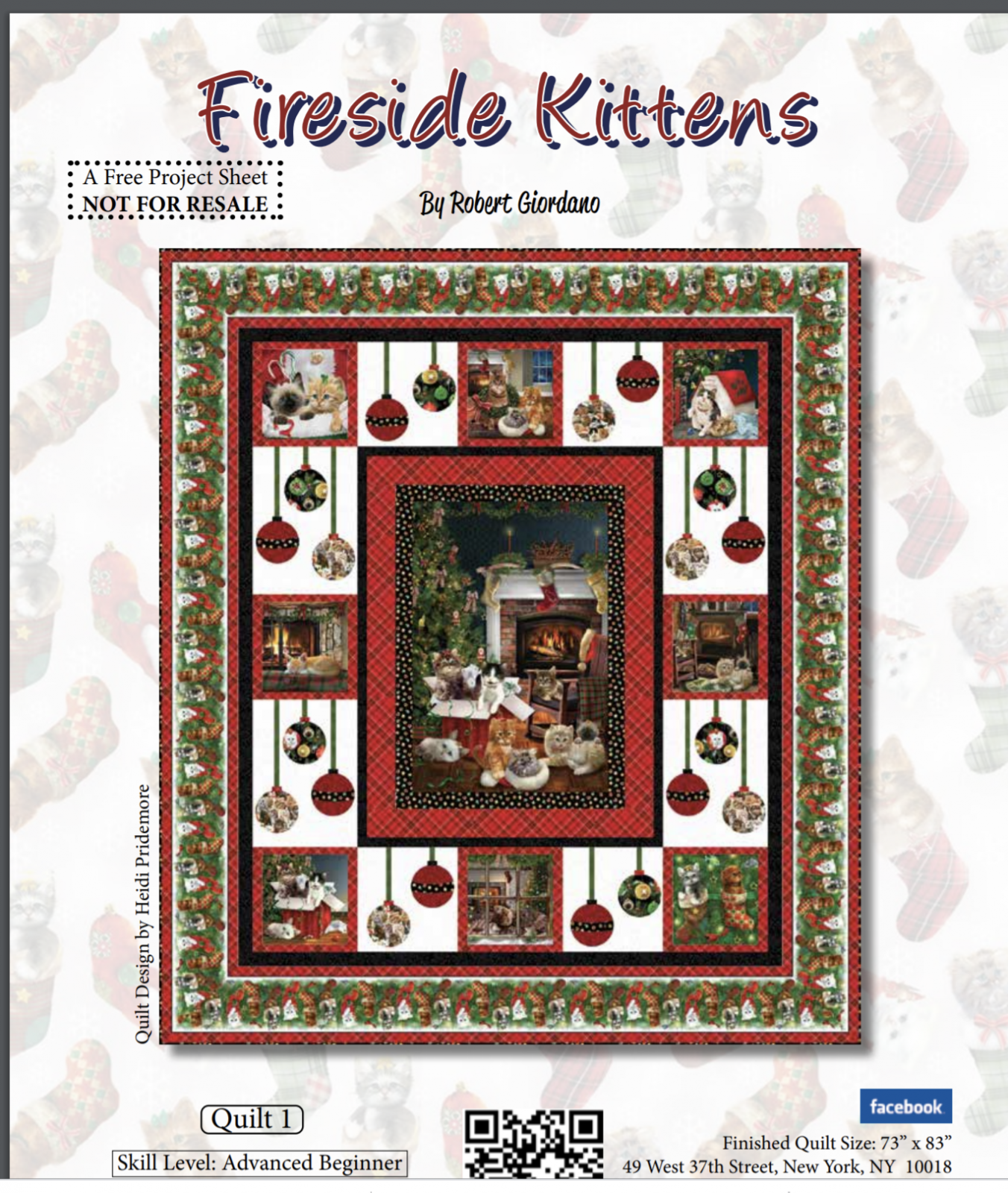 FREE Pattern Fireside Kittens