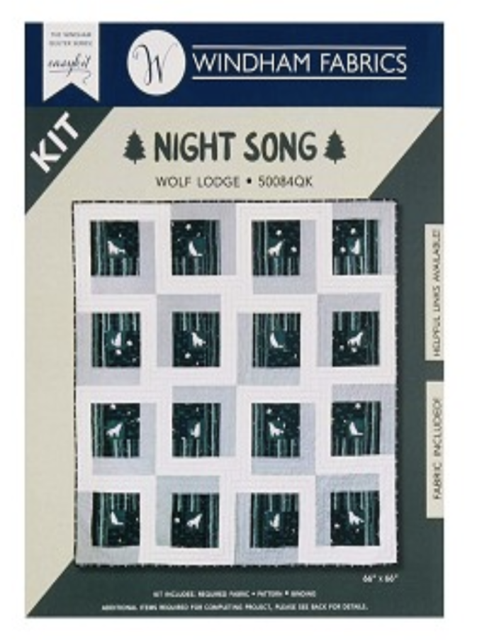 Night Song Wolf Lodge Quilt Kit 66x66