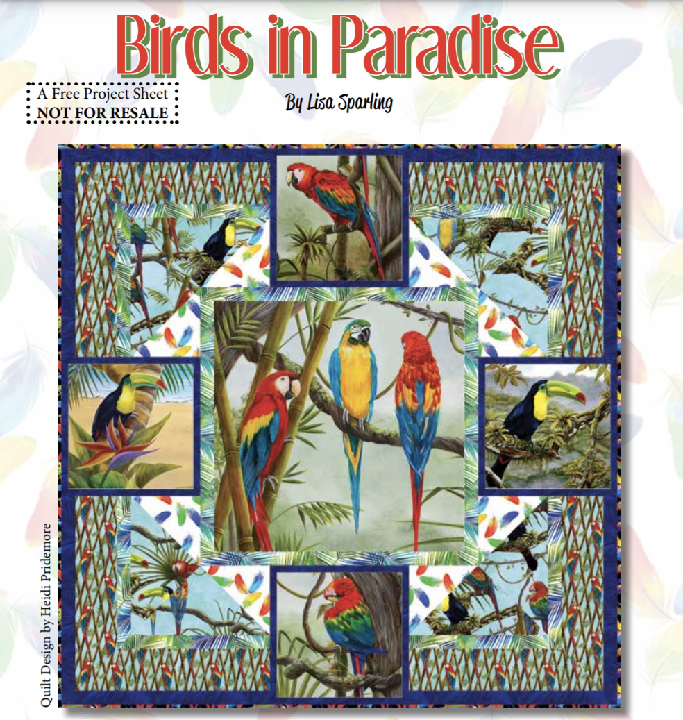 FREE Pattern Birds in Paradise