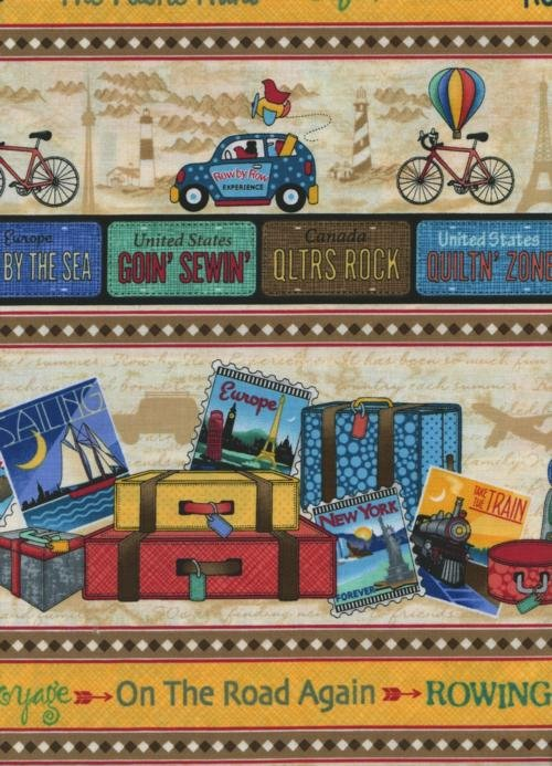 Row by Row On the Go Border Print