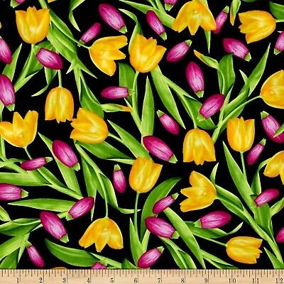 Bloom With A View Tulips Black