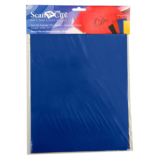 Scan N Cut Iron-On Transfer Film Sheets-Assorted Colors