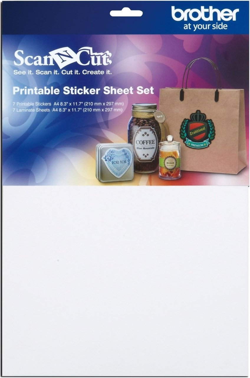 Scan N Cut Printable Sticker Sheet Set