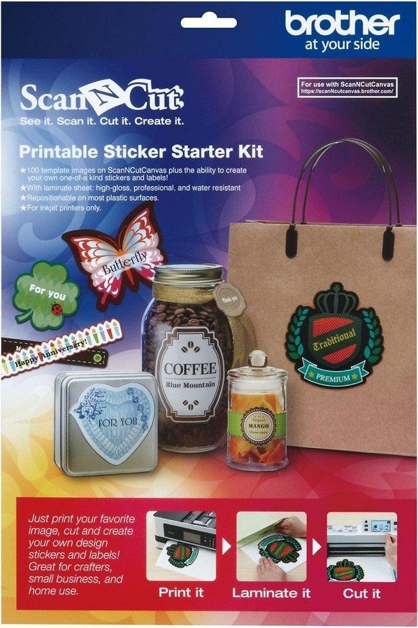Scan N Cut Printable Sticker Starter Kit