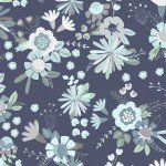 Secret Garden Light Navy Main Floral*