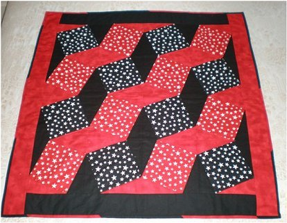 Sewing Revolution Black and Red Star Quilt Pattern