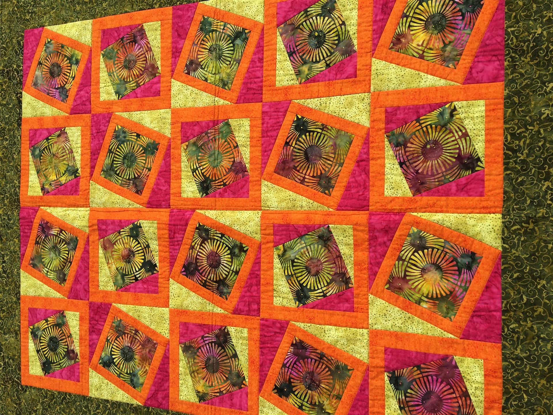 Sewing Revolution Tilted Batic Quilt Pattern
