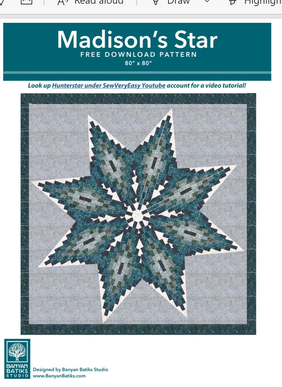 .FREE Pattern  for Madison Star
