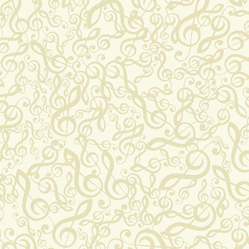The Music in Me Jumbled G-Clef Cream/Beige