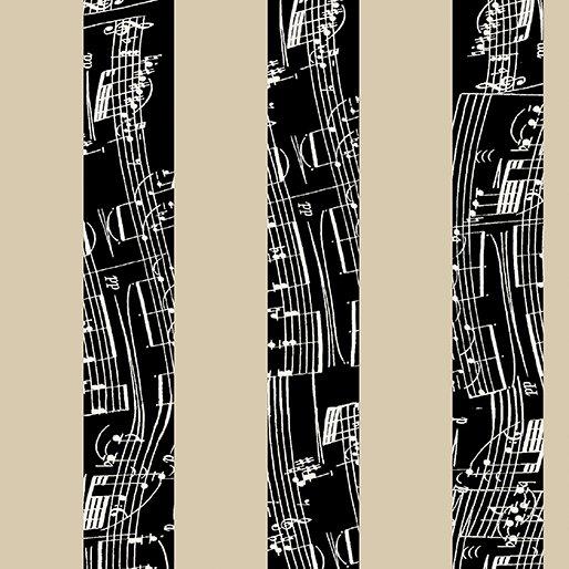 The Music in Me Duet Stripe Beige/Black