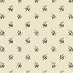 Cross Quilt Floral Cream