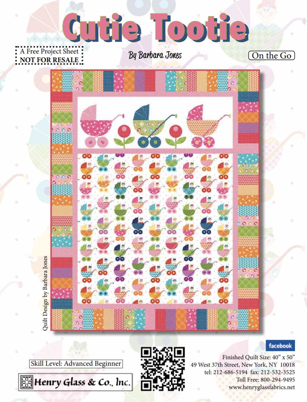FREE Pattern Cutie Tootie Baby Quilt