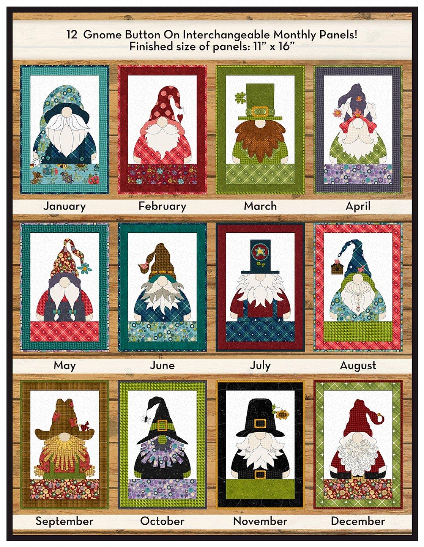 Gnome for the Holidays Applique Calendar