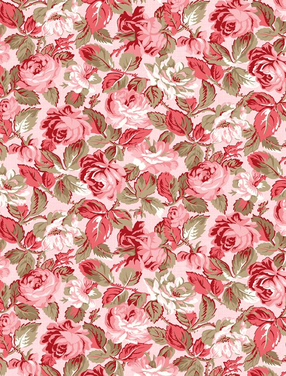 Rhapsody in Red Tonal Floral Lt Pink