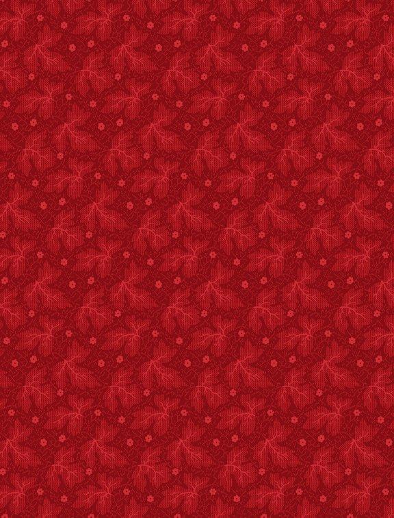 Rhapsody in Red Tonal Leaves Red