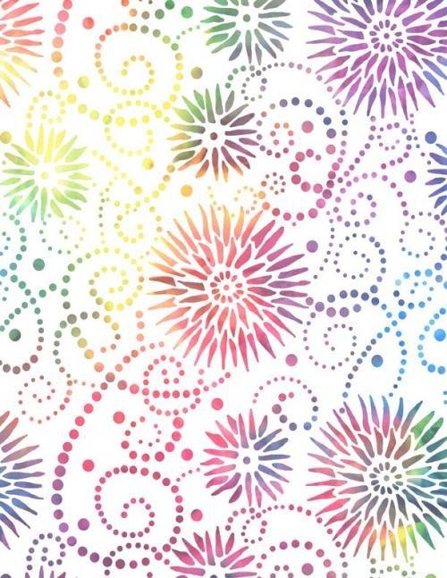 Essentials 108 Flower Burst White/Multi