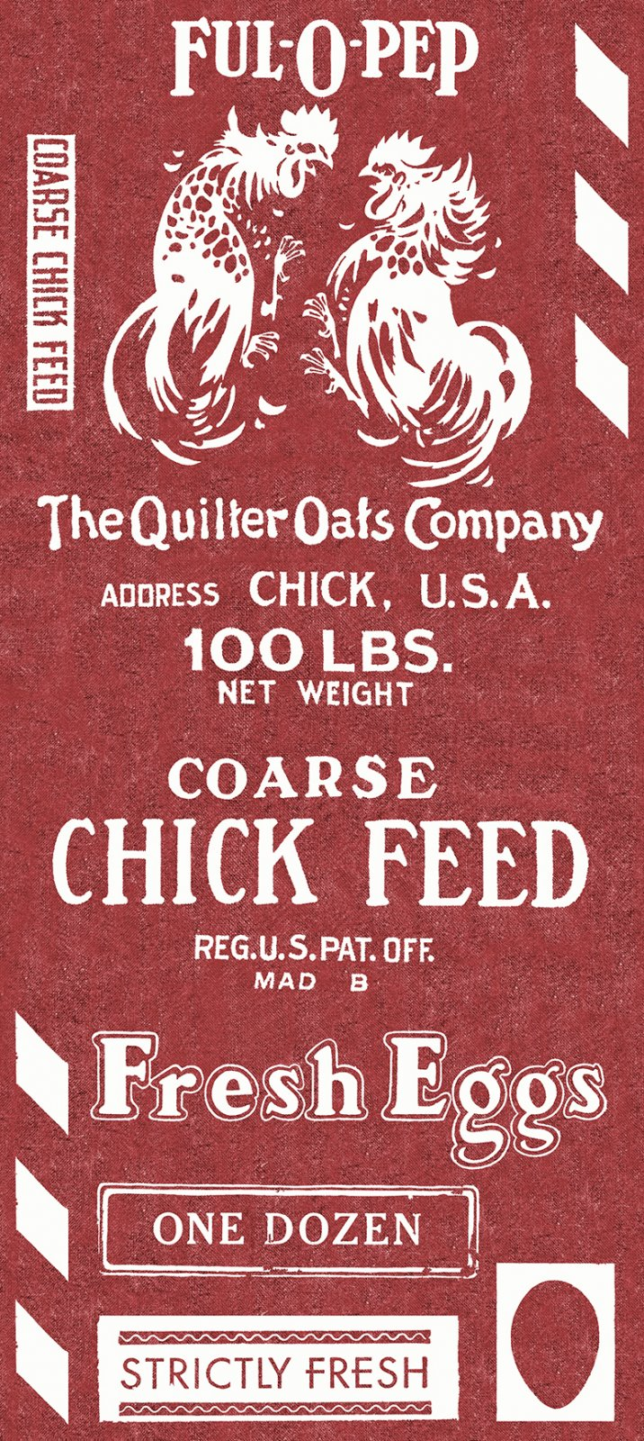 Fowl Play Feed Sack Red