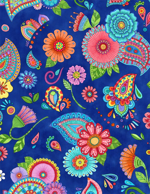 Live Out Loud Large Floral Allover Blue