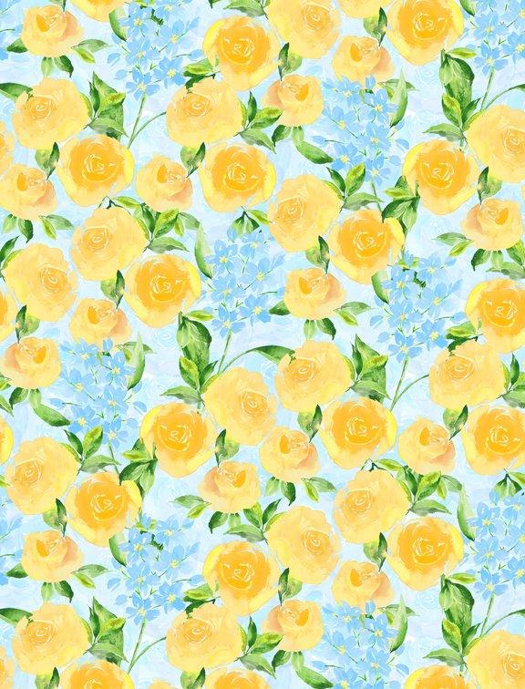 Bloom True Packed Floral Blue