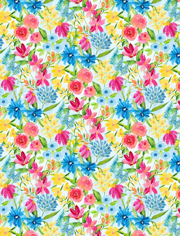 Bloom True Small Floral Blue