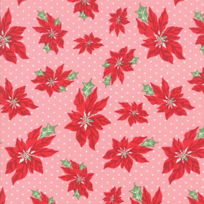 Sweet Christmas Poinsettia Pink