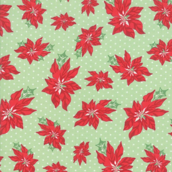 Sweet Christmas Poinsettia Green