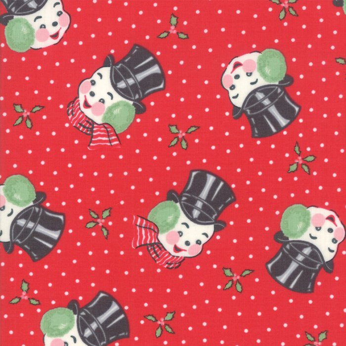 Sweet Christmas Mr Snowman Red