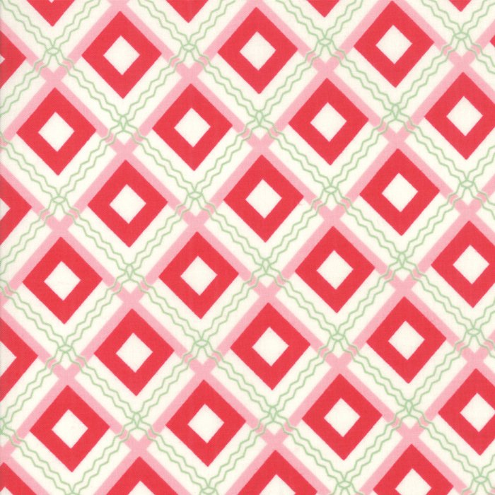Sweet Christmas Plaid Scarf Pink