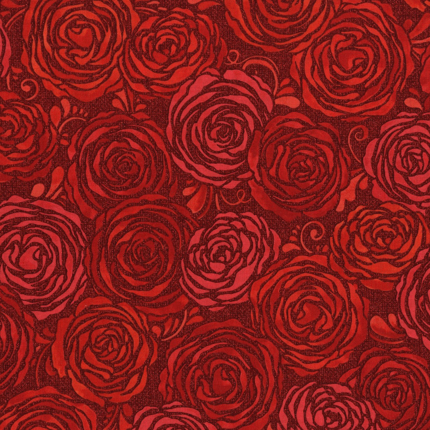 Sugar Berry Candied Roses Radiant Ruby