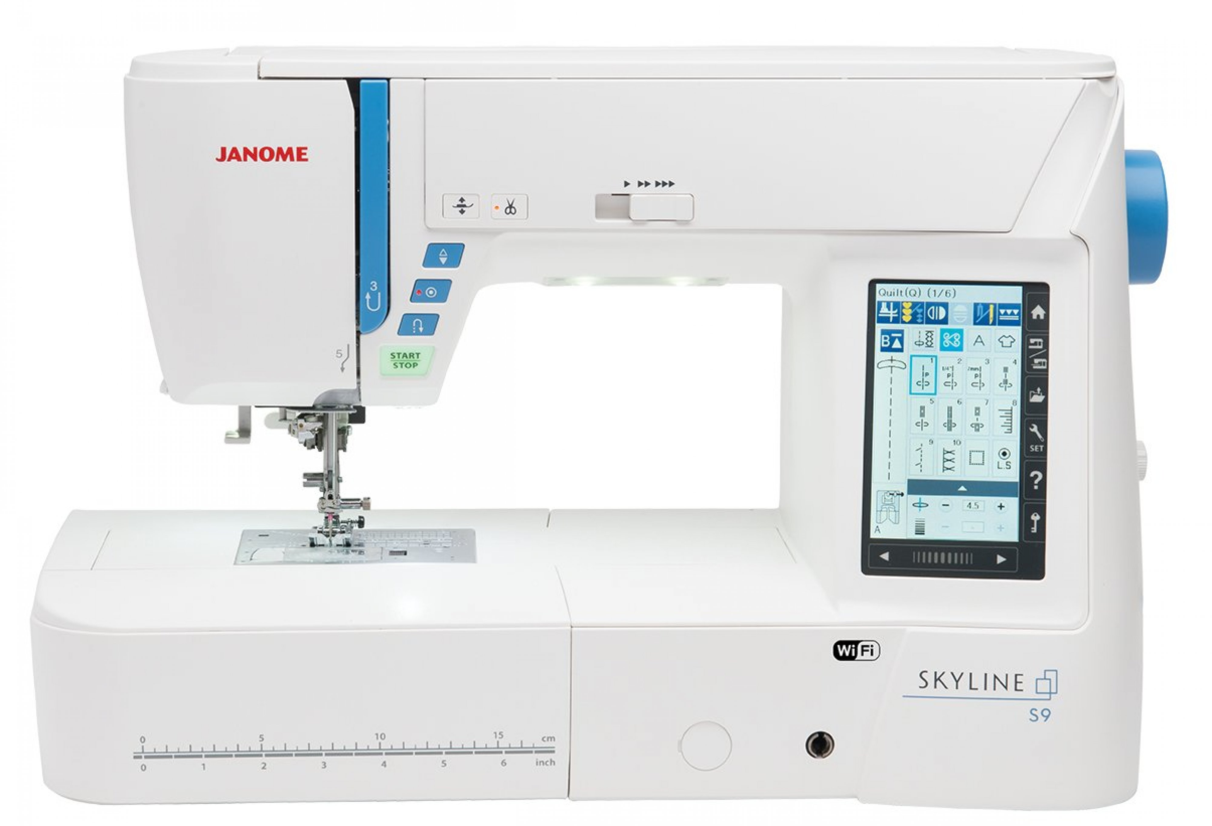 enlarge to machine bc size quilting click couture blue quilt janome