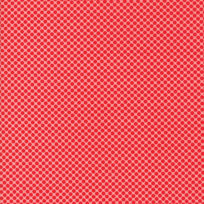 Vintage Holiday Dots Red Pink