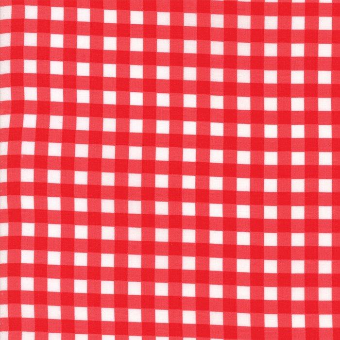 Vintage Holiday Plaid Red