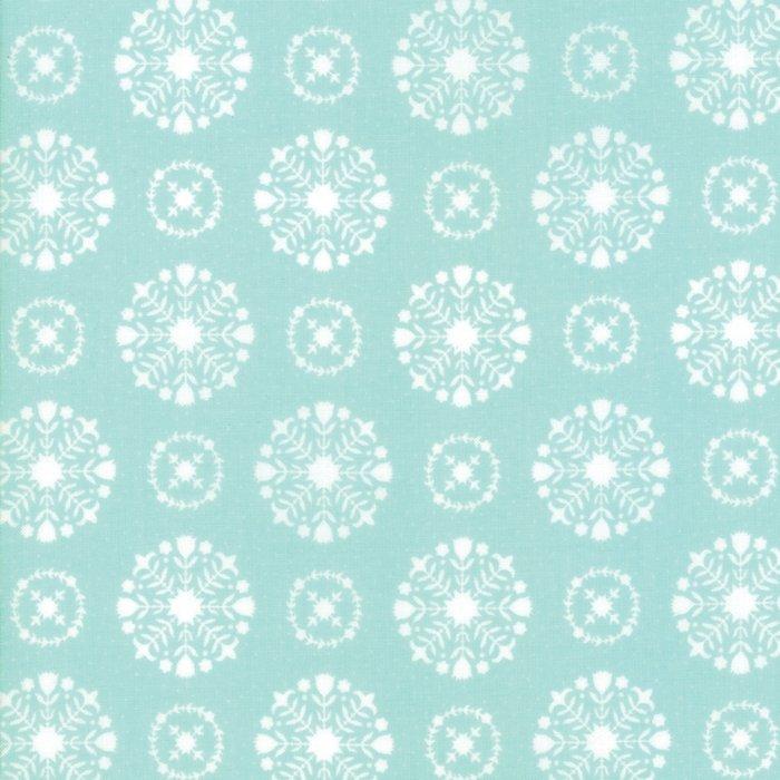 Vintage Holiday Snowflakes Aqua