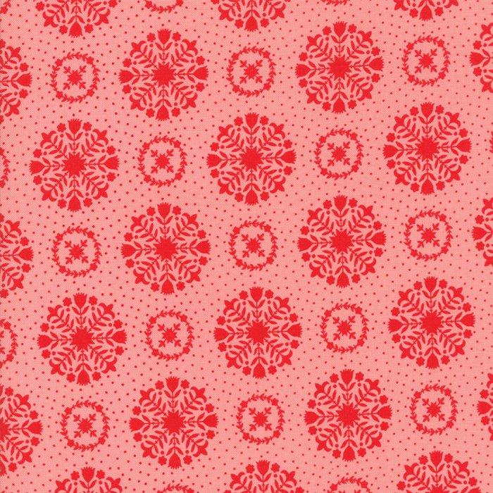Vintage Holiday Snowflakes Pink