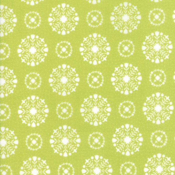 Vintage Holiday Snowflakes Green